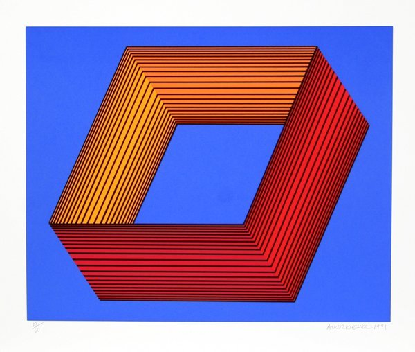 5: Richard Anuszkiewicz, Op-Art Silkscreen