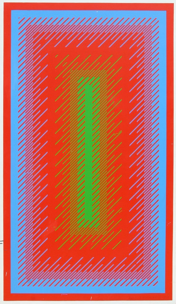 6: Richard Anuszkiewicz, Large Silkscreen on Panel