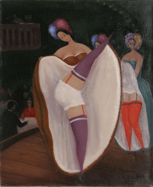 17: Branko Bahunek, Cancan, Oil Painting