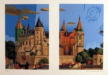 24: Menna Barretto, Castle, Lithograph