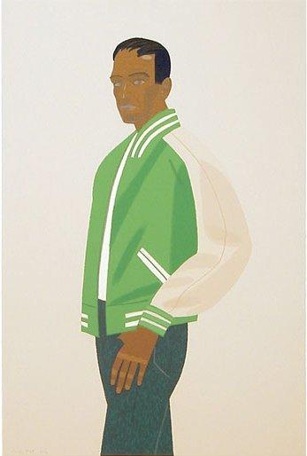 133: Alex Katz, Green Jacket, Serigraph