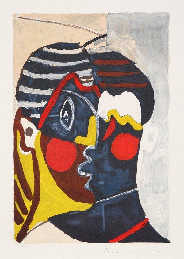 222: Pablo Picasso, Composition avec Tetes, Lithograph