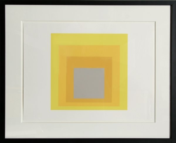 2: Josef Albers, Abstract Serigraph