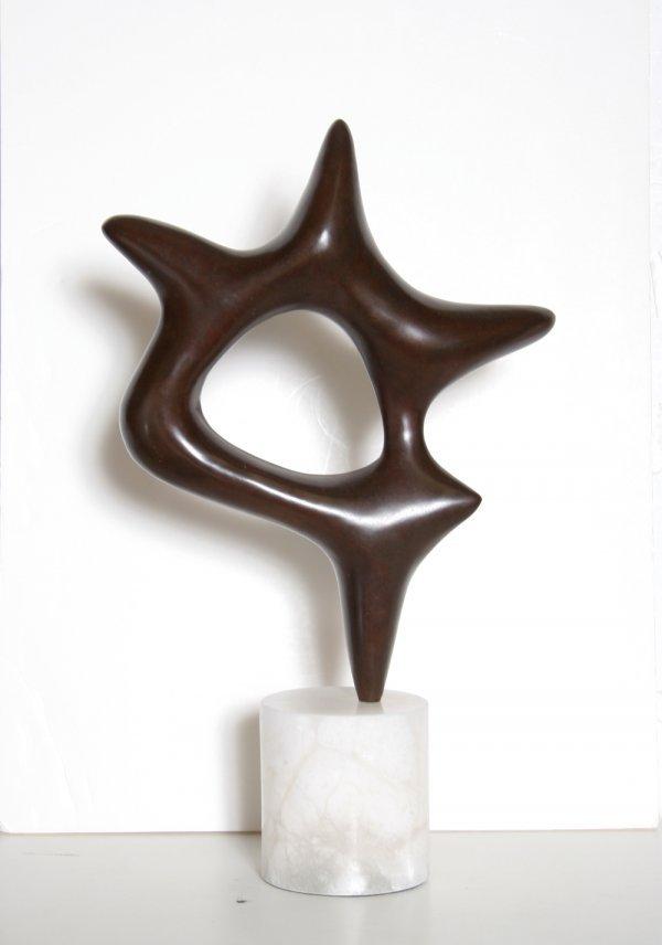 15: Jean Arp After, Star, Bronze Sculpture - 3
