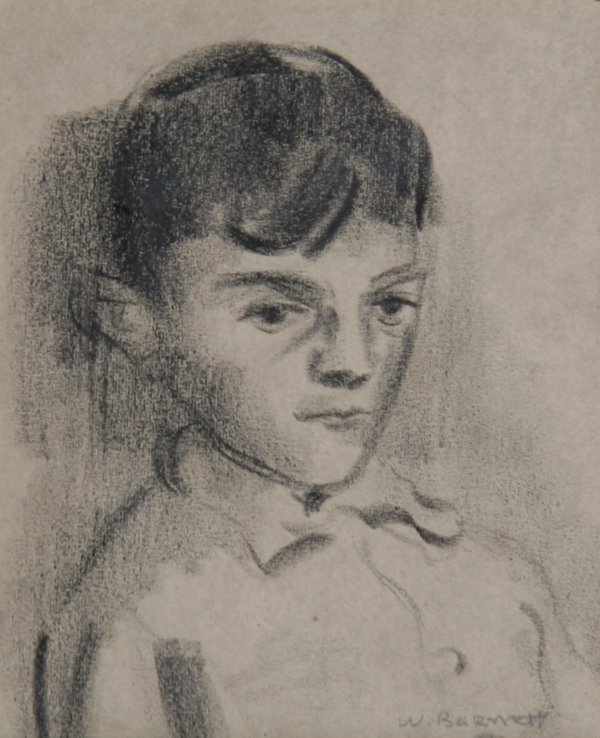 22: William Barnett, Girl, Drawing