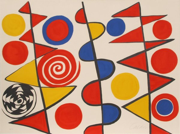 50: Alexander Calder, Abstract Lithograph