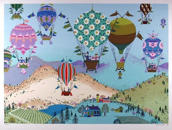 5: Jack Hofflander, Spring Balloons, Serigraph