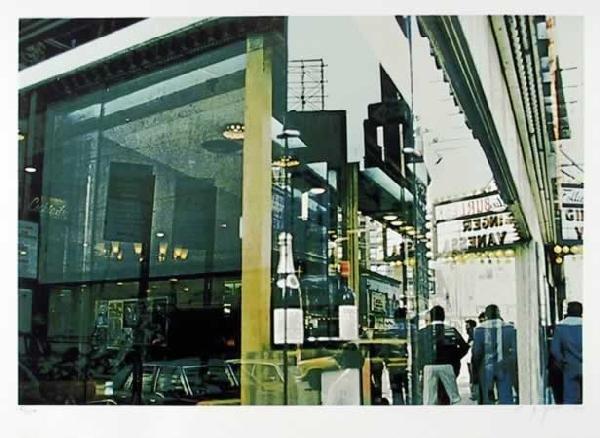 7: C.J. Yao, Liquor Store Reflection, Silkscreen