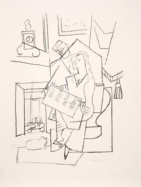 8: Pablo Picasso, Femme dans un Fauteuil, Lithograph