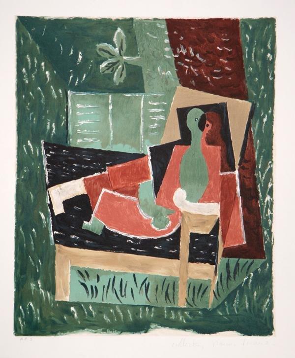 9: Pablo Picasso, Nu au Bras Leve de Face, Lithograph