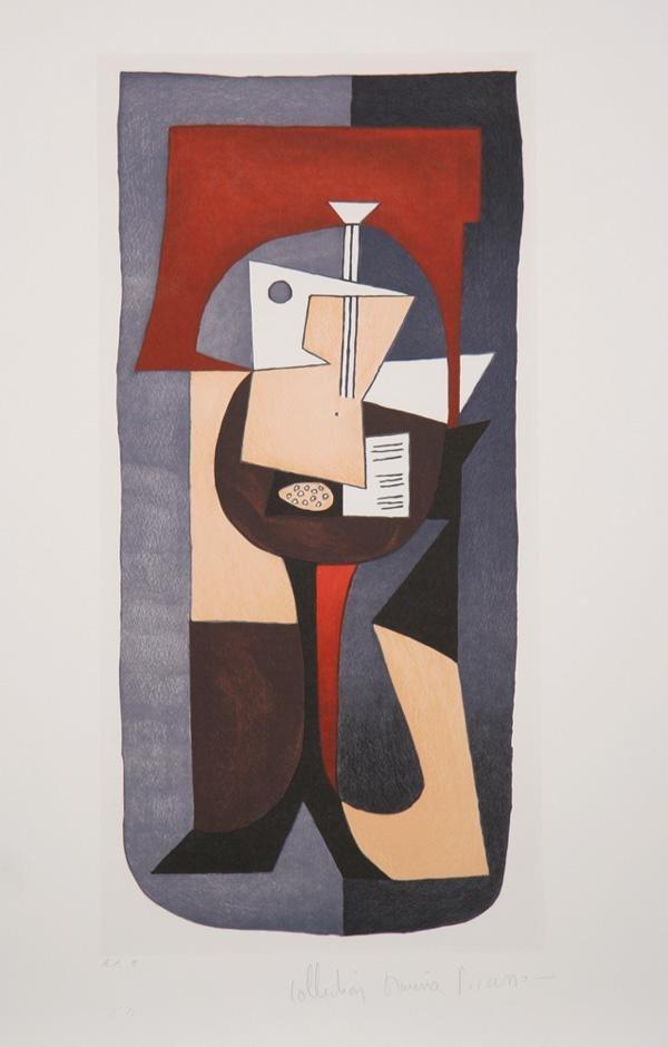 12: Pablo Picasso, Guitare et partition, Lithograph