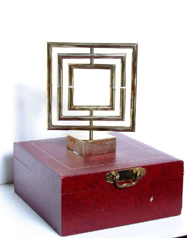 21: Yaacov Agam, Space Divider, Brass Kinetic Sculpture