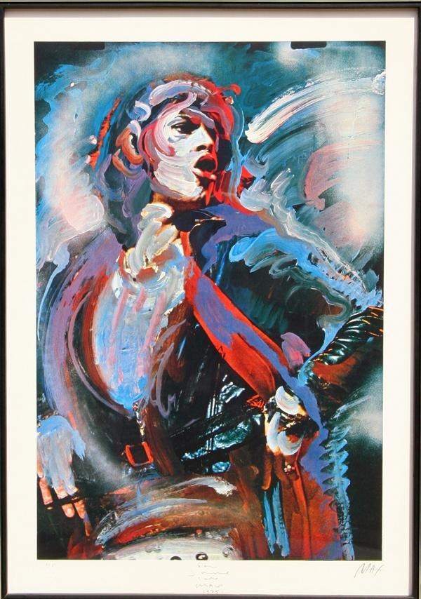 276: Peter Max, Mick Jagger, Lithograph