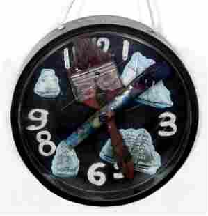Konstantin Bokov, Navigation Clock, Acrylic on Board
