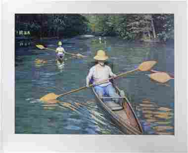 Gustave Caillebotte, Skiffs on the Yerres, Poster
