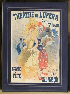 Jules Cheret, Theatre de L'Opera, Offset Lithograph