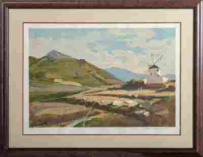 Everett Raymond Kinstler, Windmill on a Hill,