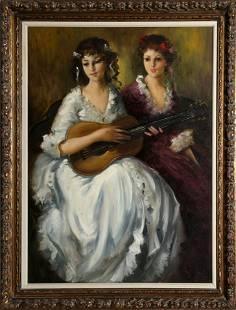 Violetta de Koszeghy, Duet, Oil Painting