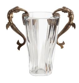 Erte, Sea Maidens, Baccarat Crystal Vase with Sculpted