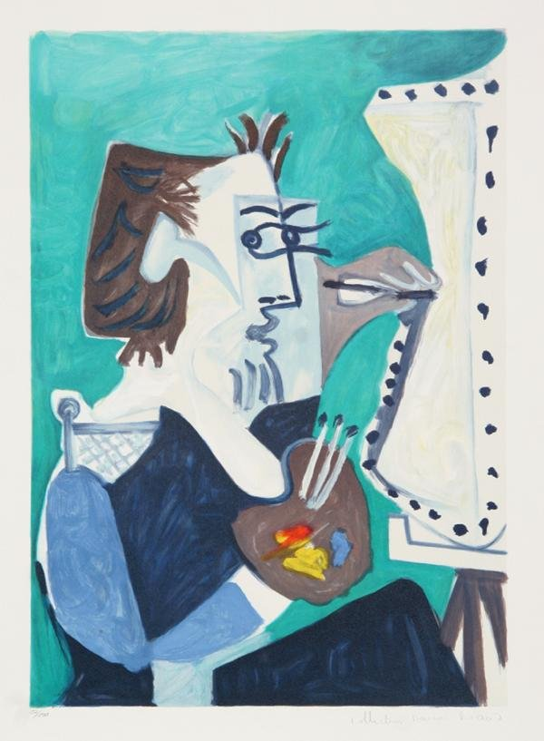 3: Pablo Picasso, Le Peintre, Lithograph