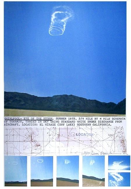 6: Dennis Oppenheim, Whirlpool, Lithograph