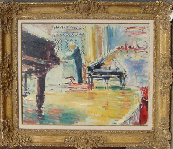 9: Dimitrie Berea, The Conductor, Stokovsky, Oil Painti