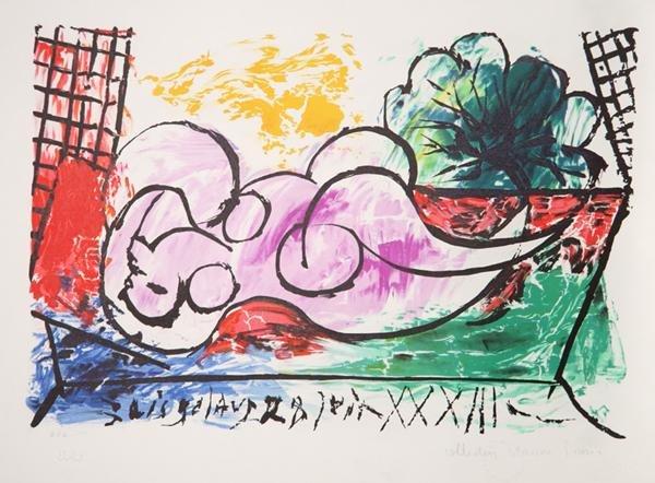 12: Pablo Picasso, Femme Endormie, Lithograph