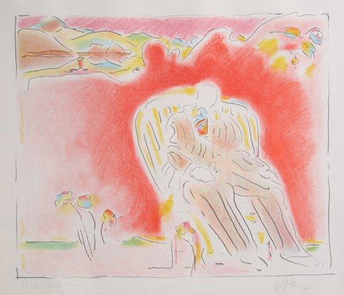18: Peter Max, The Garden, Lithograph