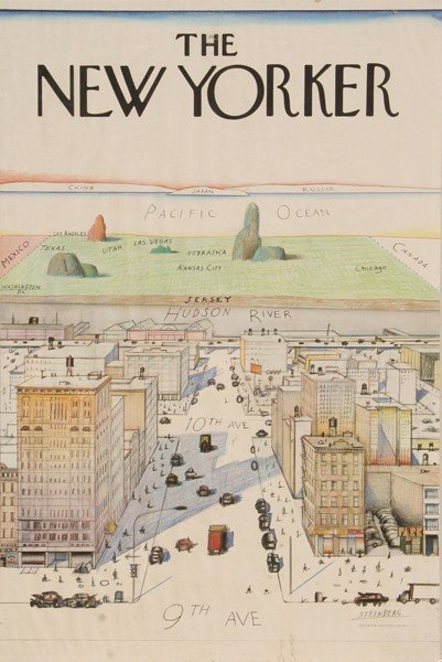 241: Saul Steinberg, The New Yorker, Poster