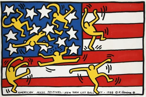 288: Keith Haring, American Music Festival - New York C