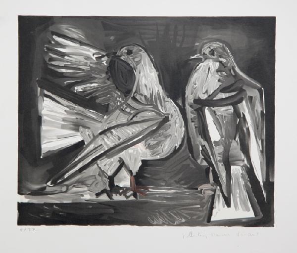 2: Pablo Picasso, Deux Pigeons, Lithograph