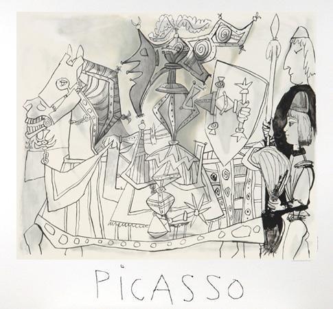 7: Pablo Picasso, Jeux de Pages, Lithograph
