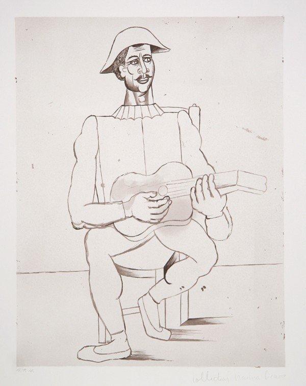 10: Pablo Picasso, Arlequin Moustachu a la Guitare, Lit
