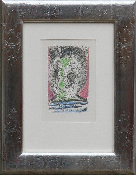 11: Pablo Picasso, Profile III, Lithograph