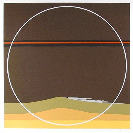13: Thomas Benton, Yellow Dunes, Silkscreen