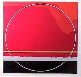 17: Thomas Benton, Red Landscape, Silkscreen