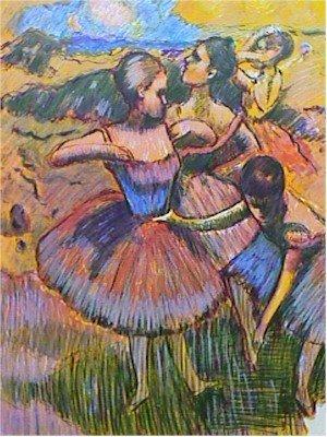 19: Wayne Ensrud, Homage to Degas, Lithograph