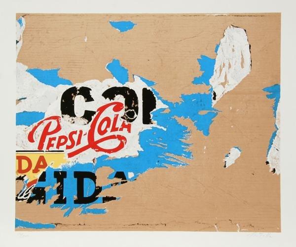 23: Mimmo Rotella, Pepsi, Serigraph