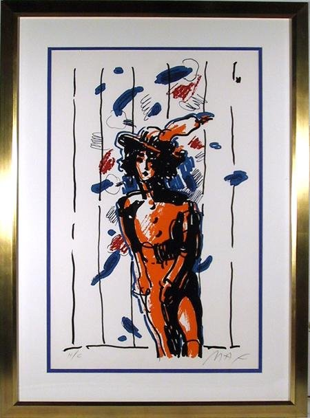 32: Peter Max, With Feathers, Lithograph