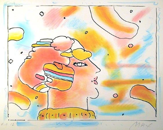3: Peter Max, From Another Planet, Lithograph