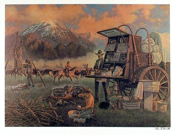 4: Cecil Smith, When a Cowboy Cries, Lithograph