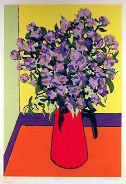 8: Phyllis Sussman, Wild Flowers, Serigraph