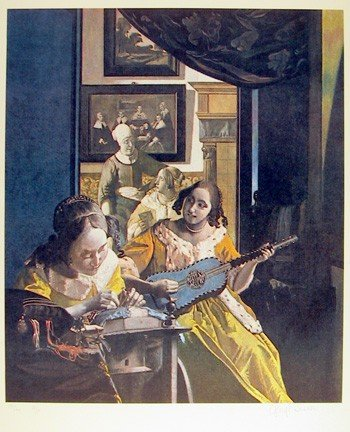 13: George Deem, Primary Vermeer, Lithograph