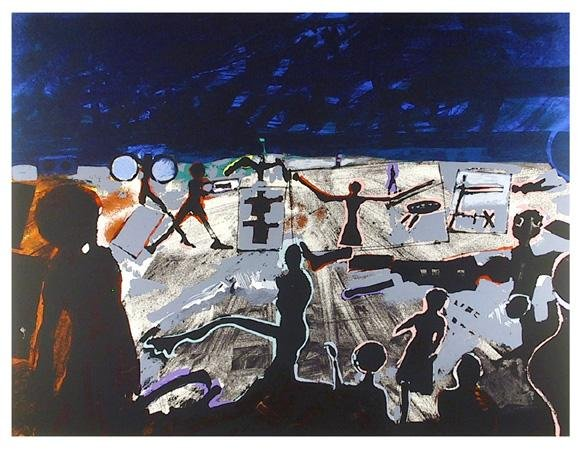 14: John Hultberg, Ballet, Serigraph