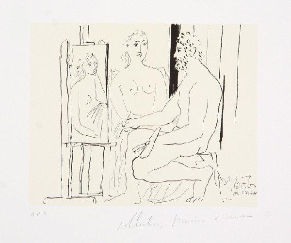 17: Pablo Picasso, Le Pientre et Son Modele, Lithograph