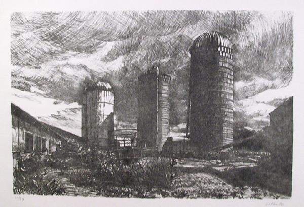22: Altoon Sultan, The Farm, Lithograph