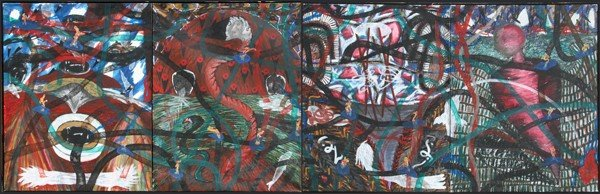 22: Papo Colo, Charmer, Oil Painting (Four Panels)