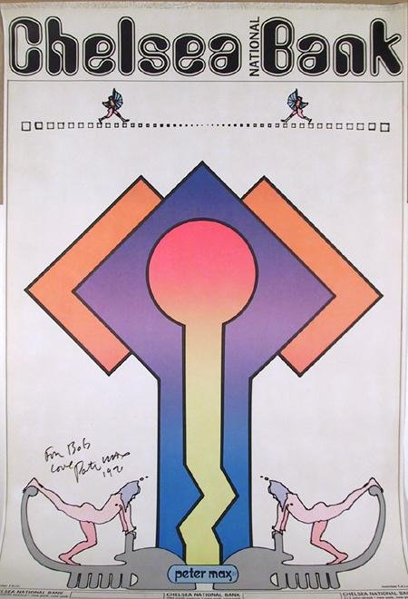 23: Peter Max, Chelsea Bank Poster, Poster