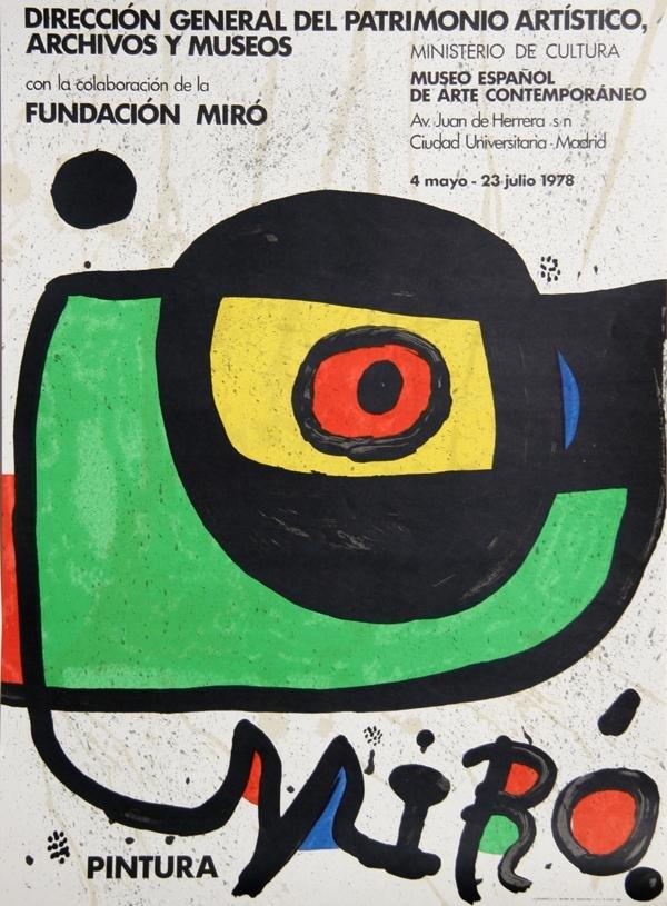 2: Joan Miro, Museo Espanol, Poster