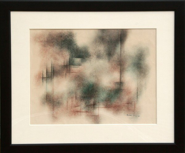 11: Norman Lewis, Abstract Ink and Watercolor